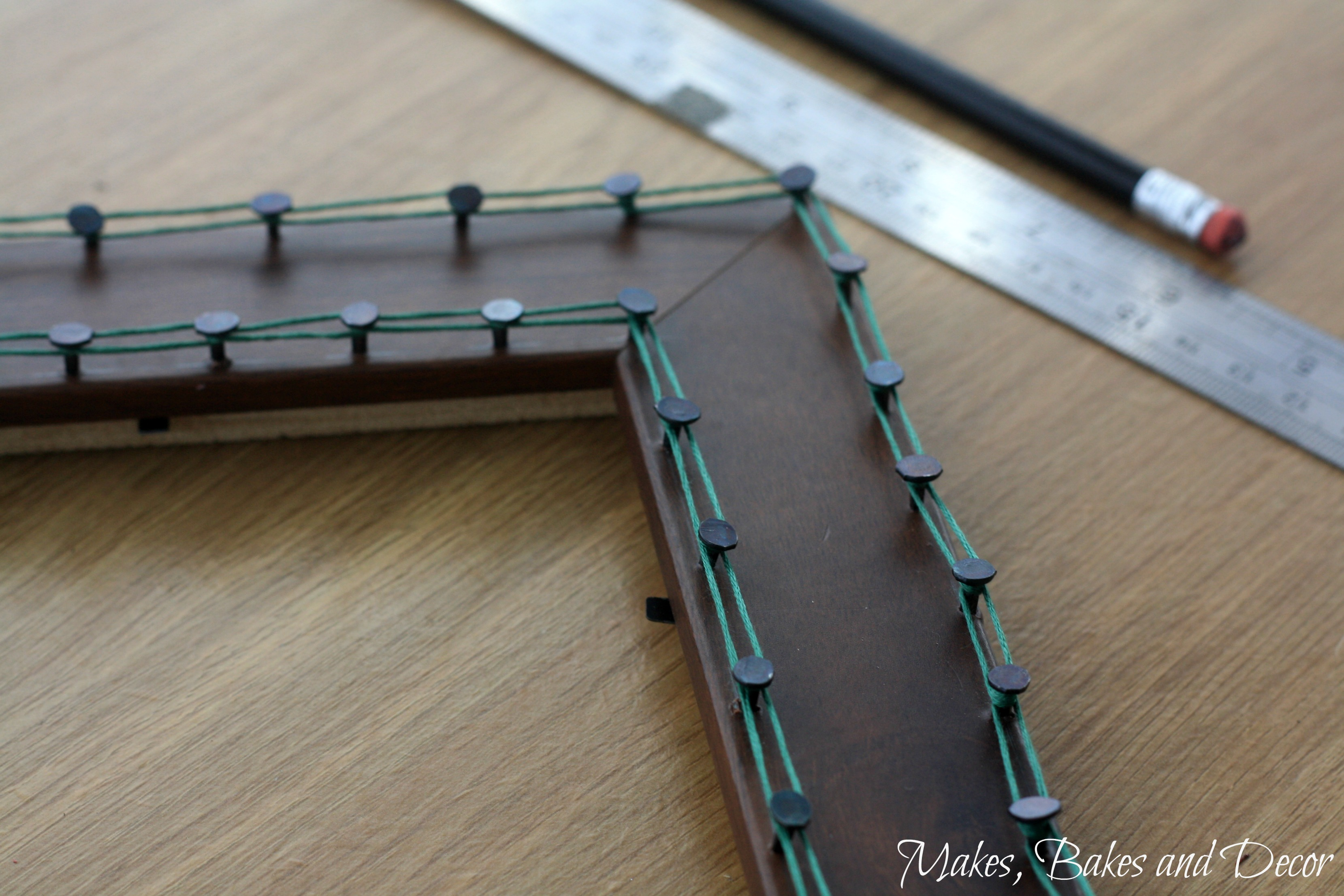 string art frame tutorial
