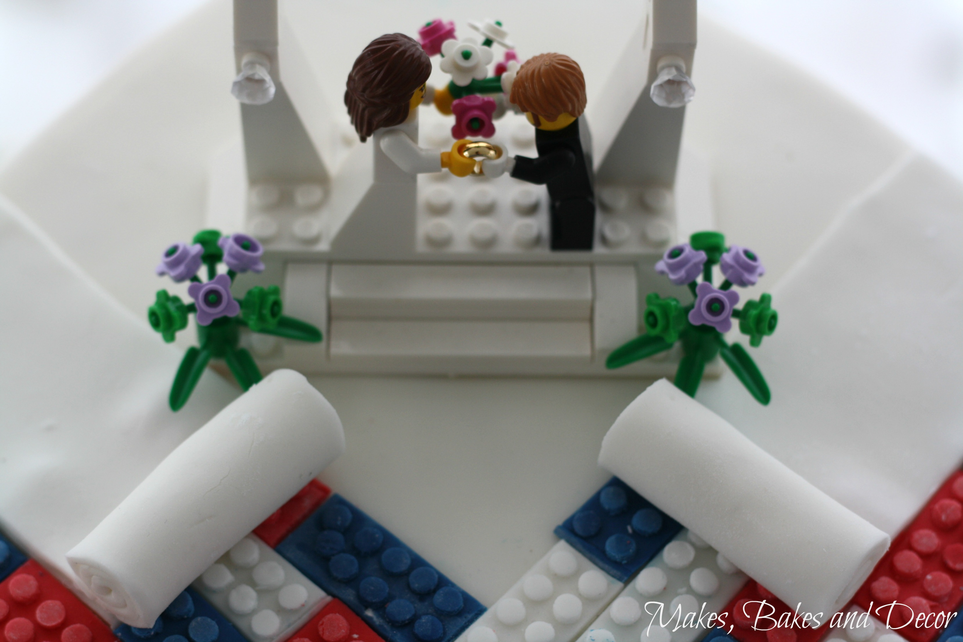 lego wedding cake and some my cake decorating essentials