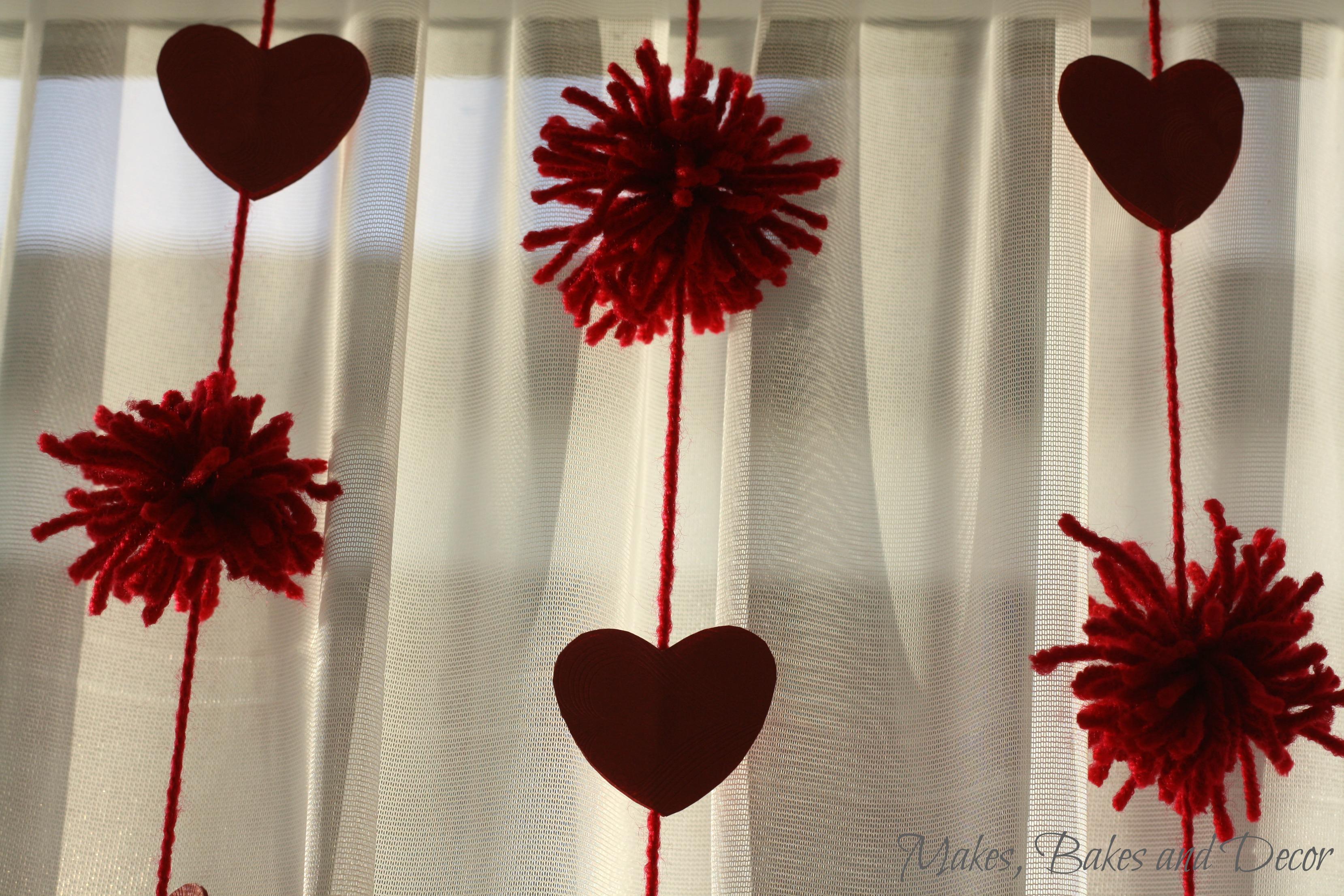 valentine's pom pom garland