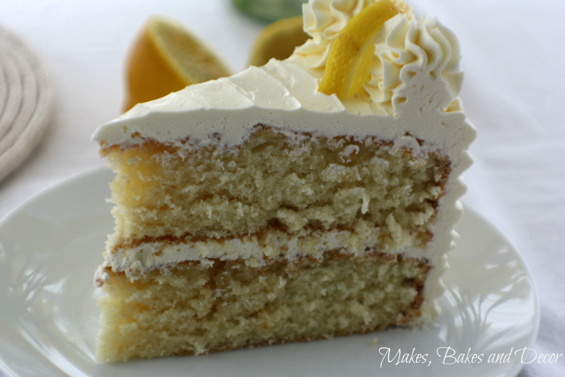 lemon drizzle layer cake