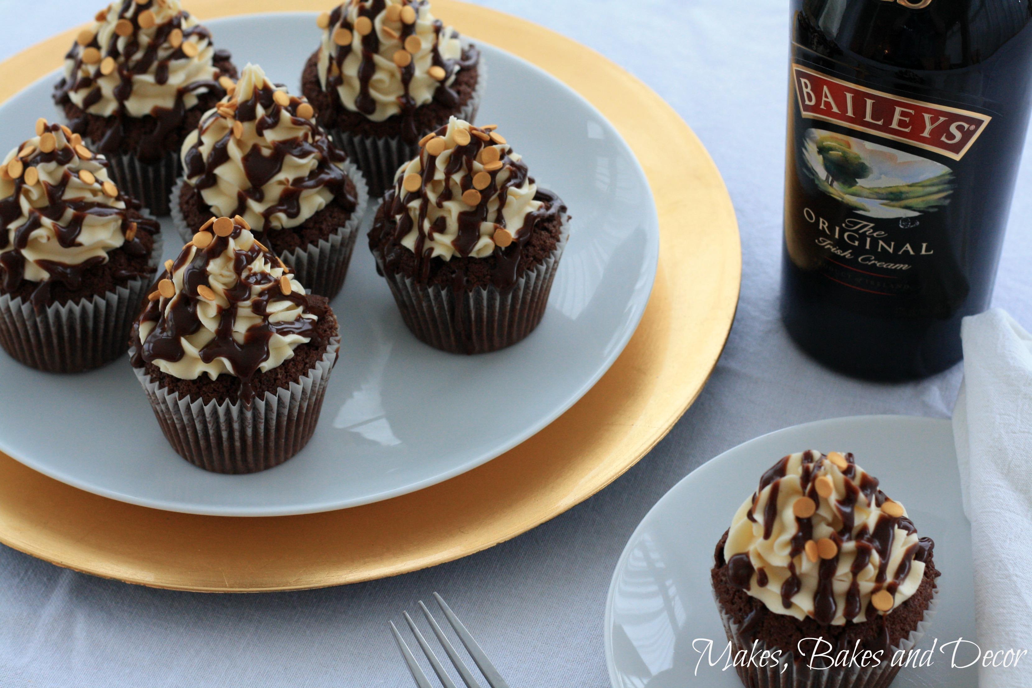 baileys chocolate cupcakes