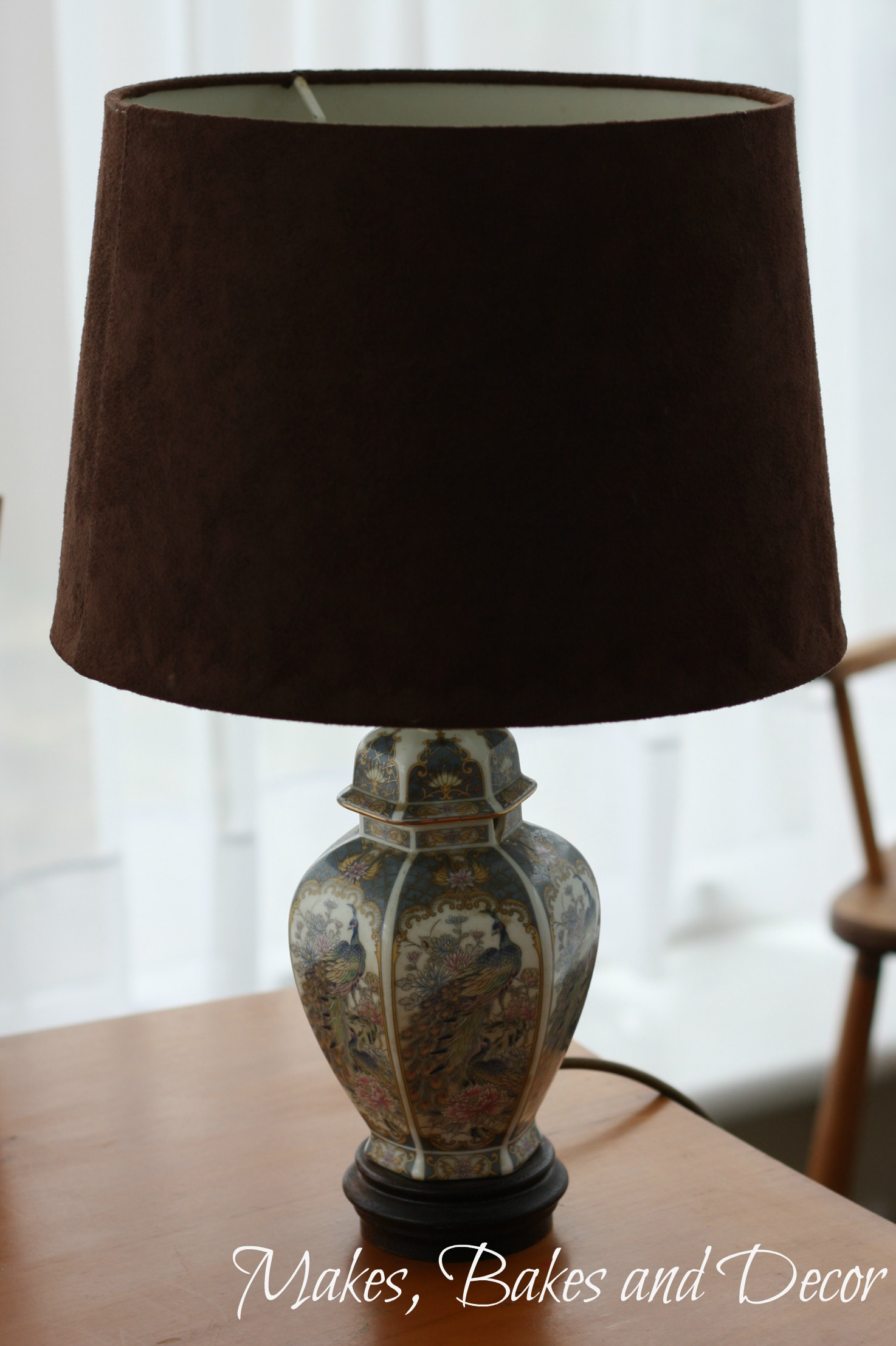 how to cover a lampshade