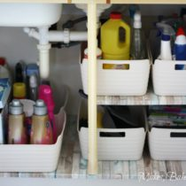 under sink organisation