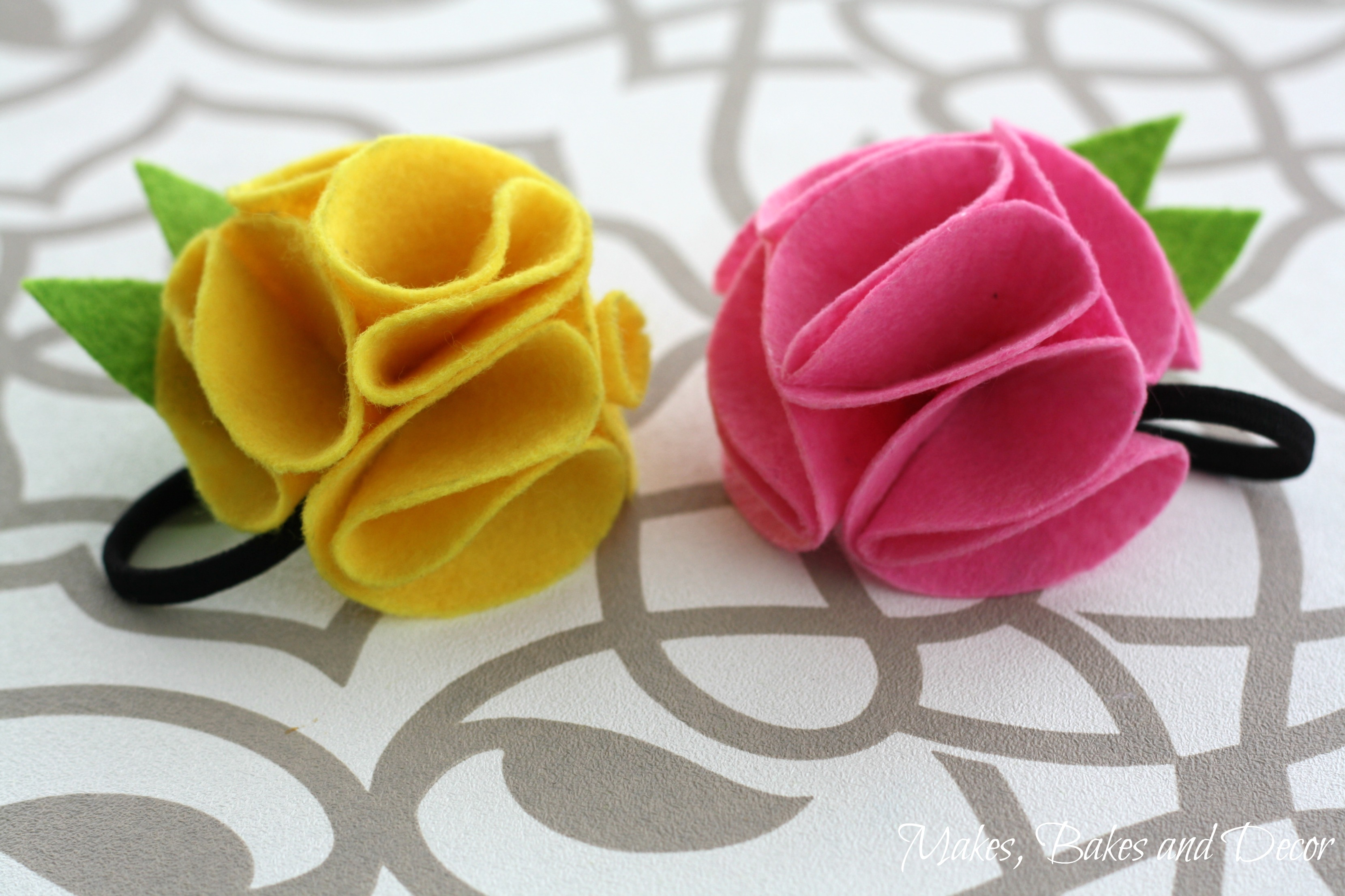 felt flower hairband