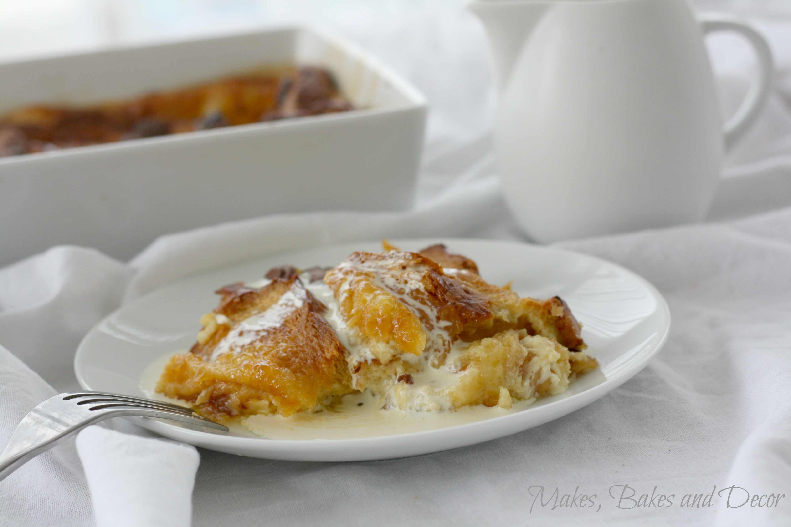 Orange and Chocolate Bread and Butter Pudding - Makes, Bakes and Decor