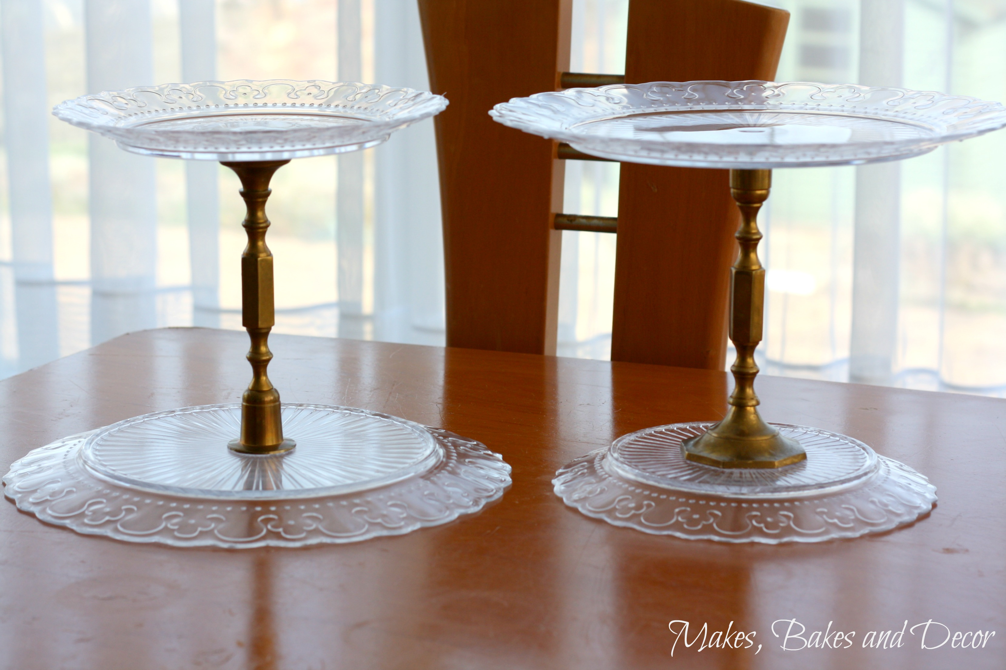 thrift store cake stands