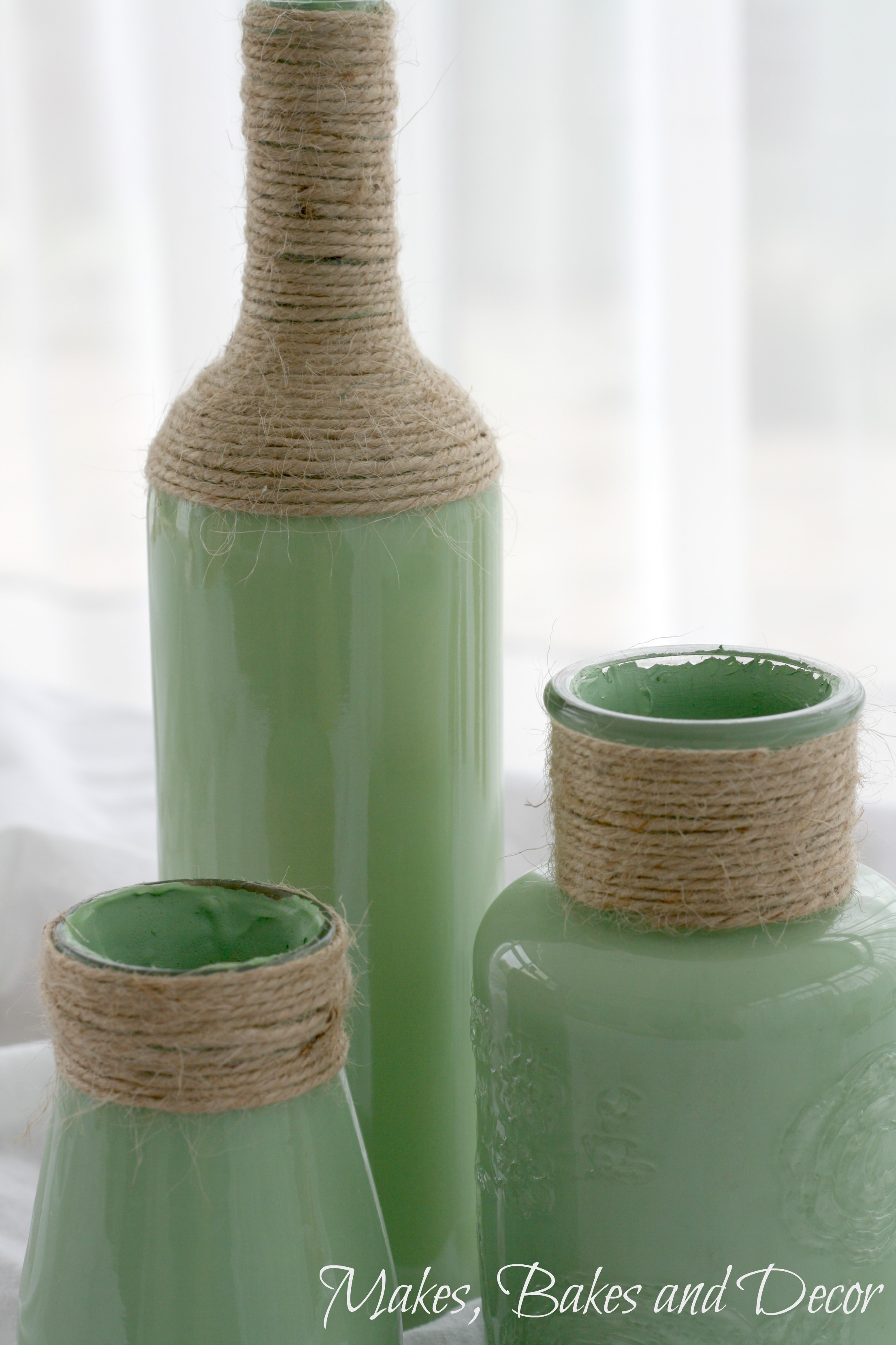 painted glass bottles