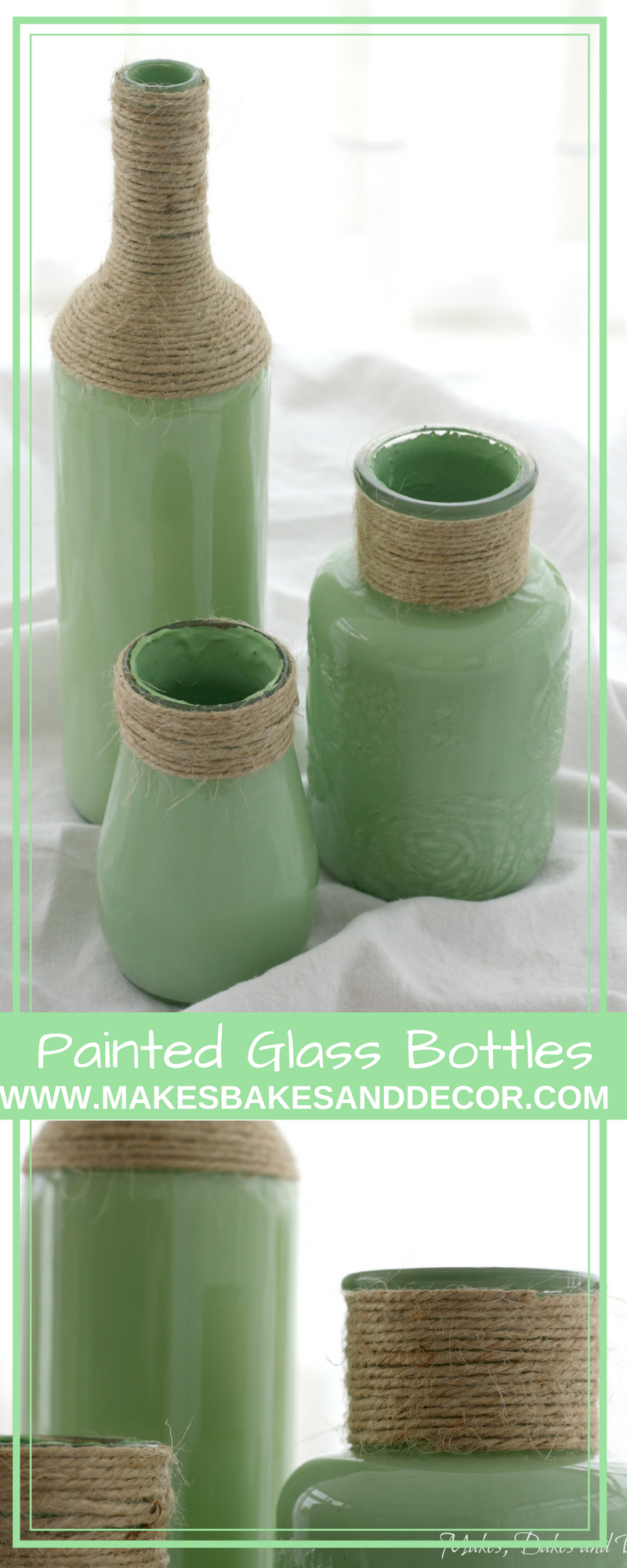 Painted Glass Bottles Makes Bakes And Decor