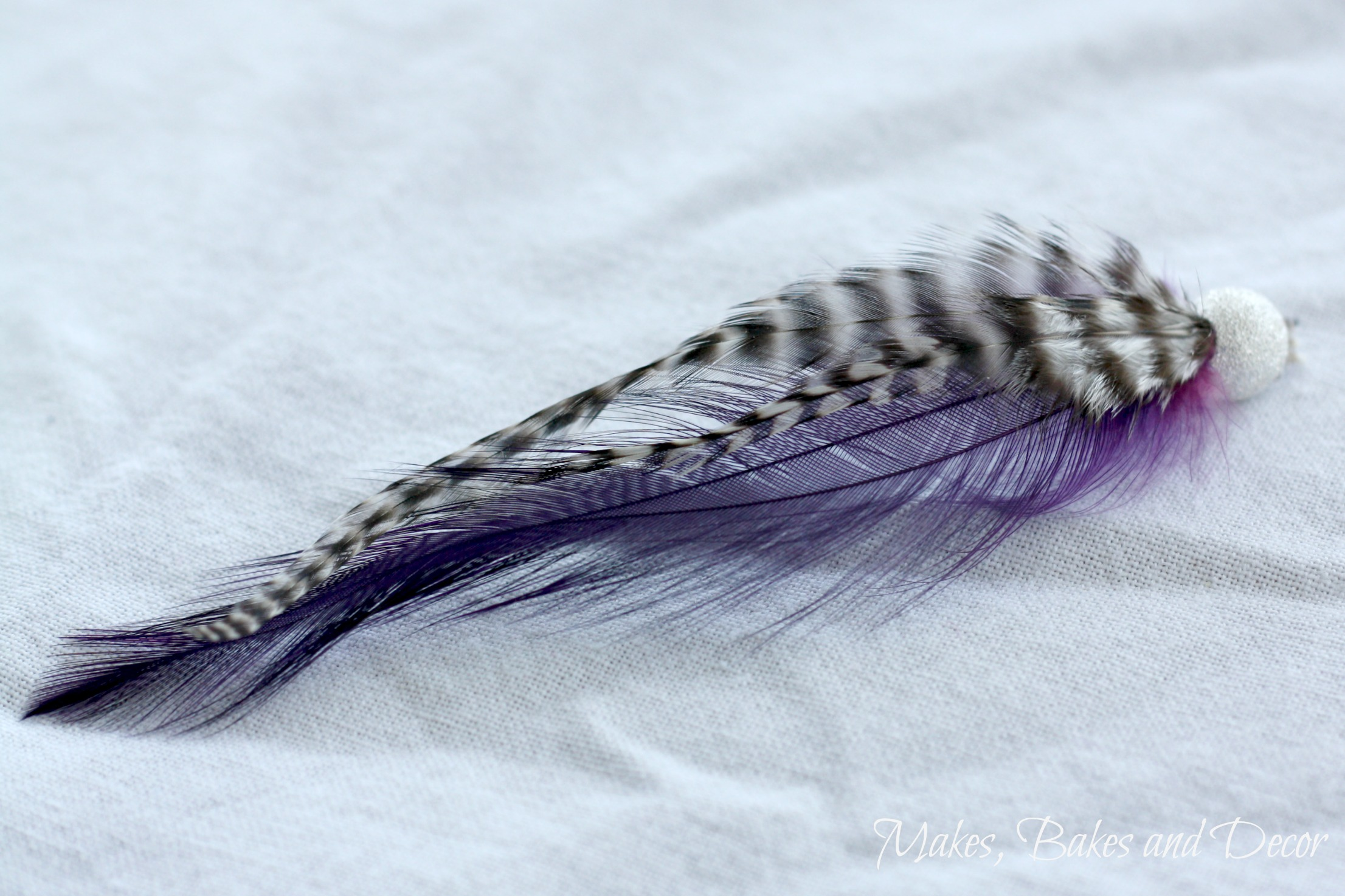 summer festival feather earrings