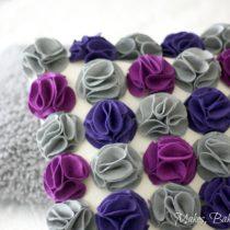 felt flower cushion