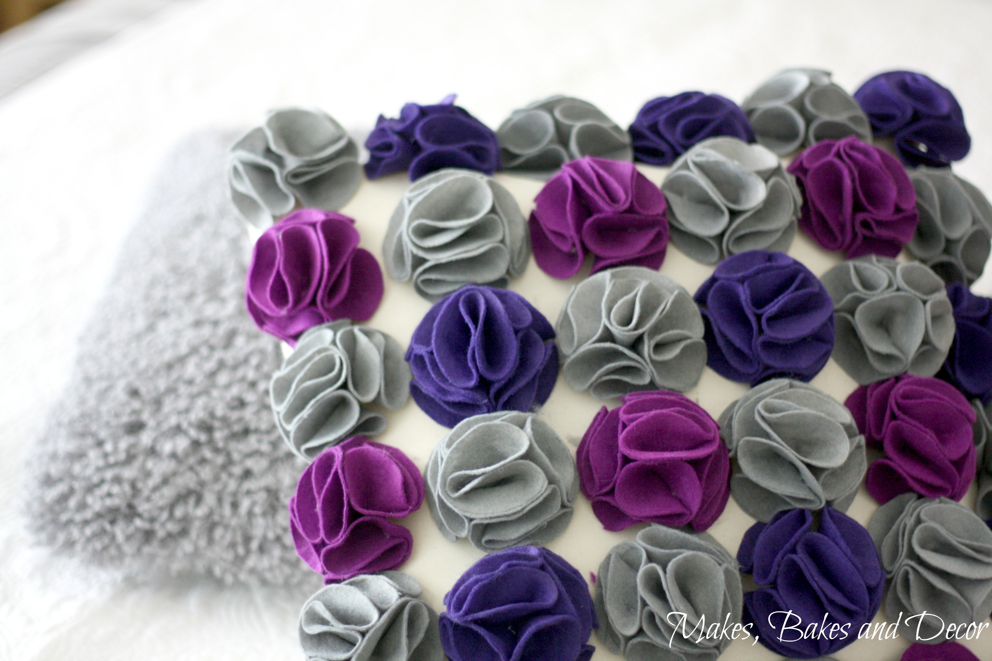 felt flower cushion