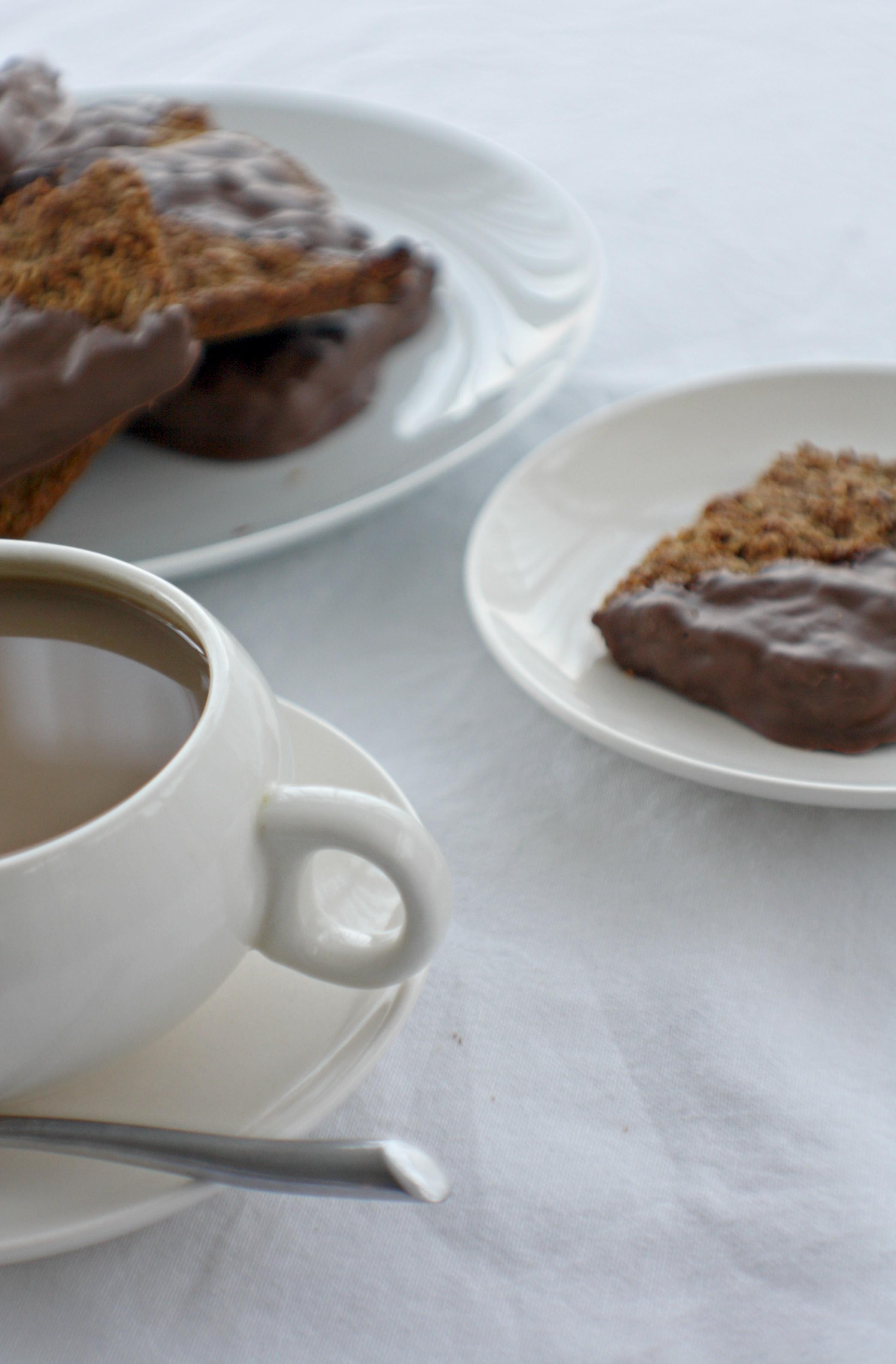 chocolate dipped flapjacks
