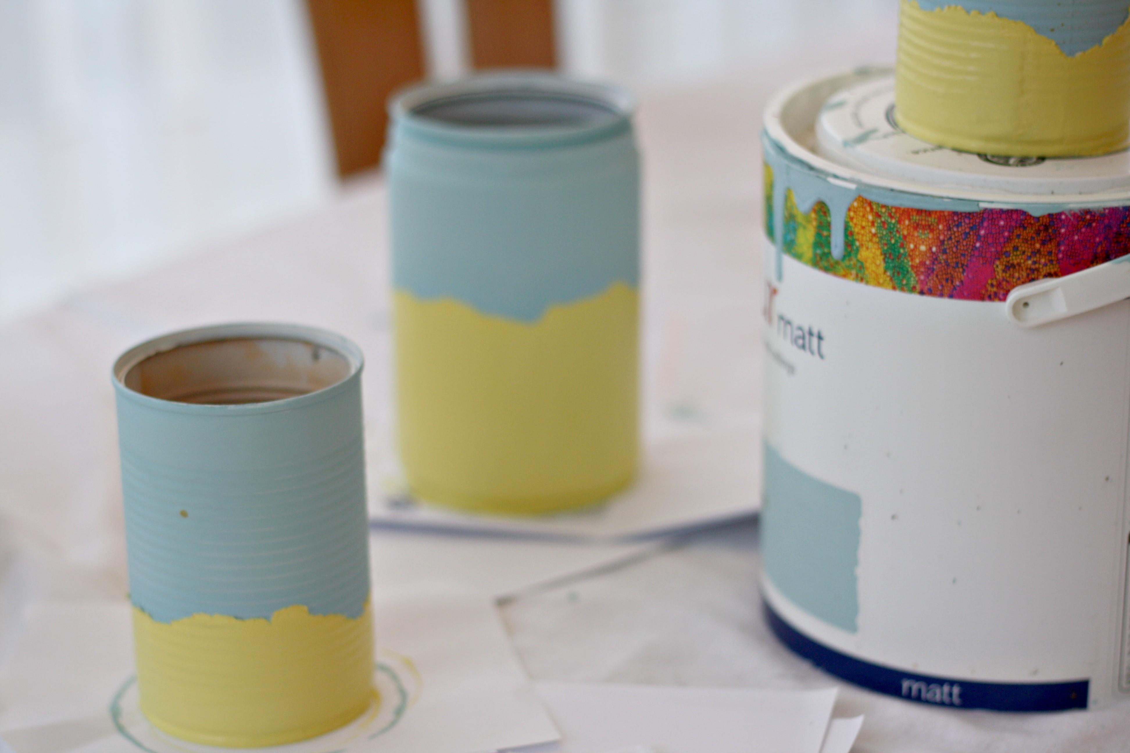tin can pen pots