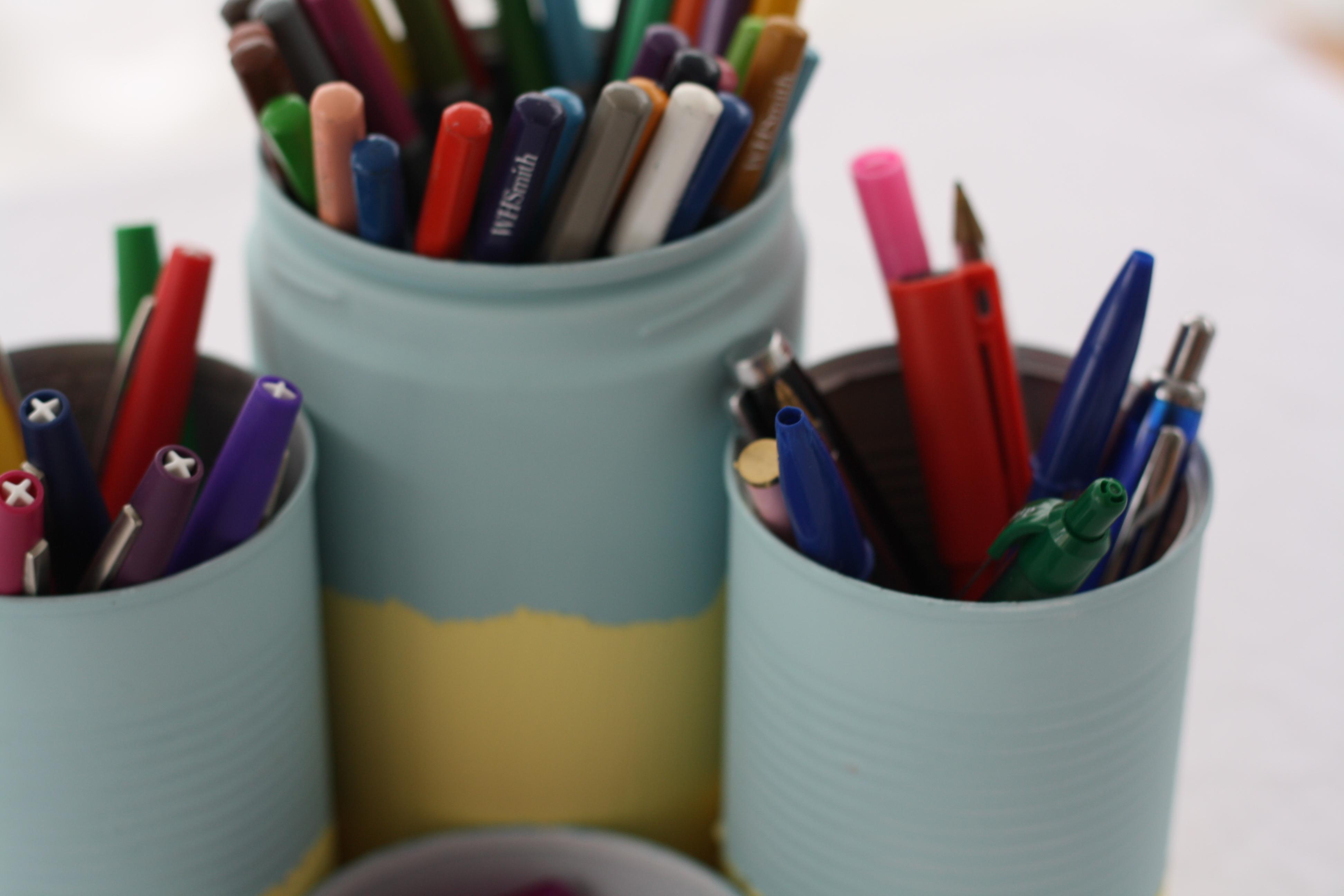 tin can pen pot