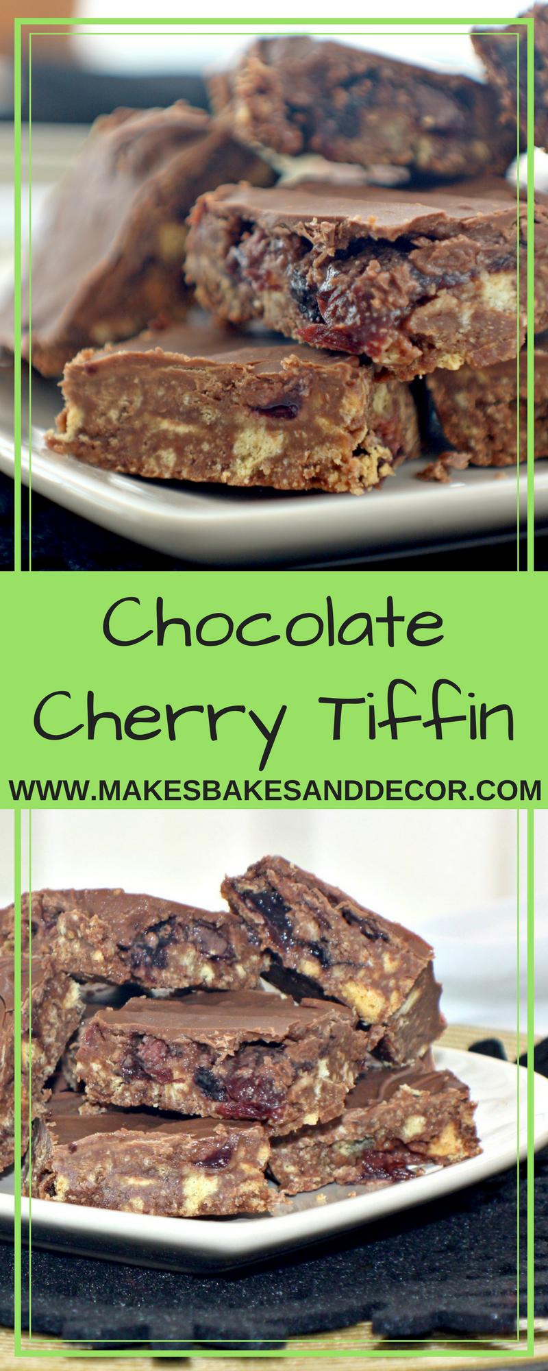 chocolate cherry tiffin