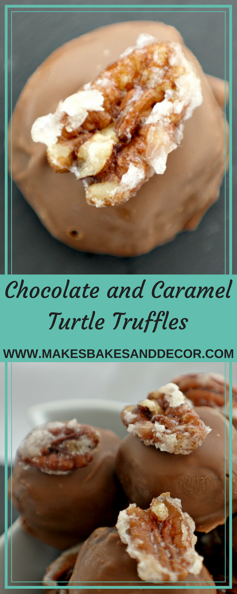 chocolate and caramel turtle truffles