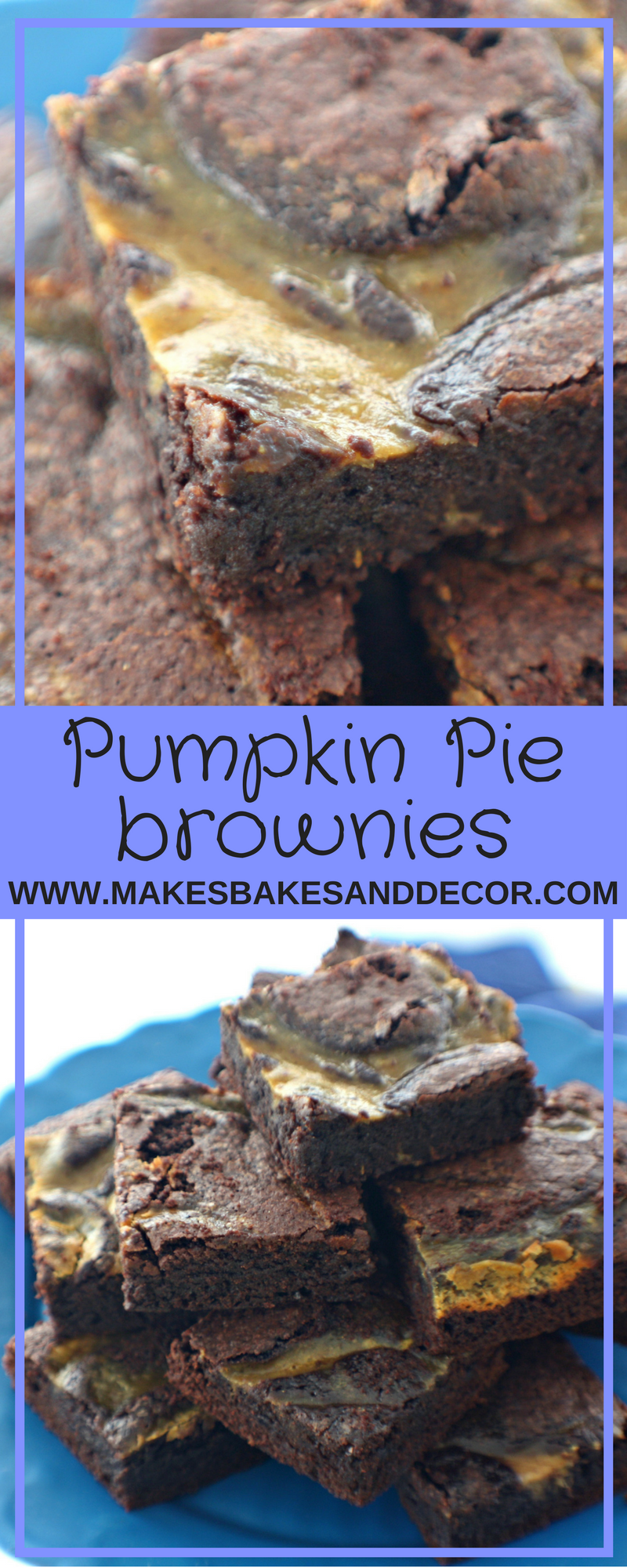 pumpkin pie brownies