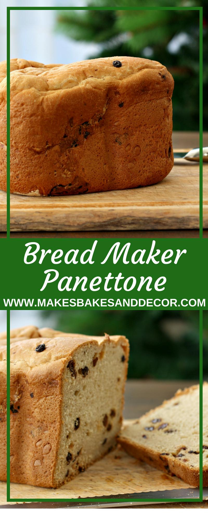 bread maker panettone