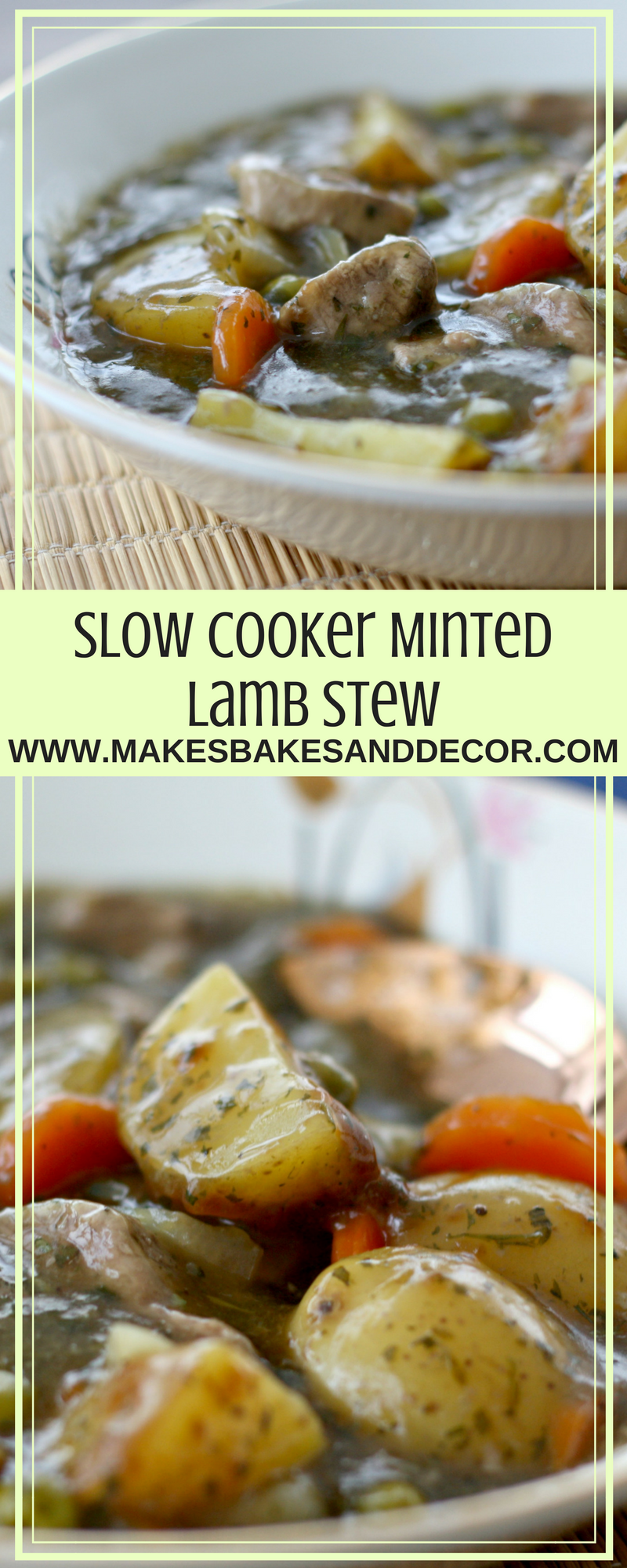 Slow Cooker Minted Lamb Stew
