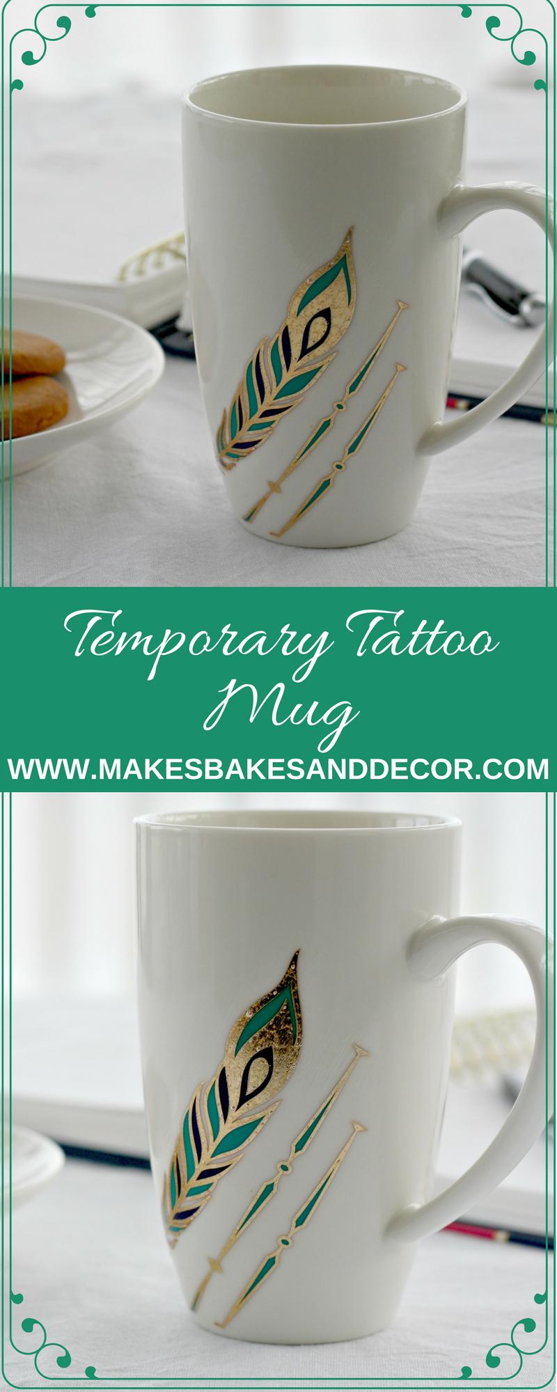 temporary tattoo mug