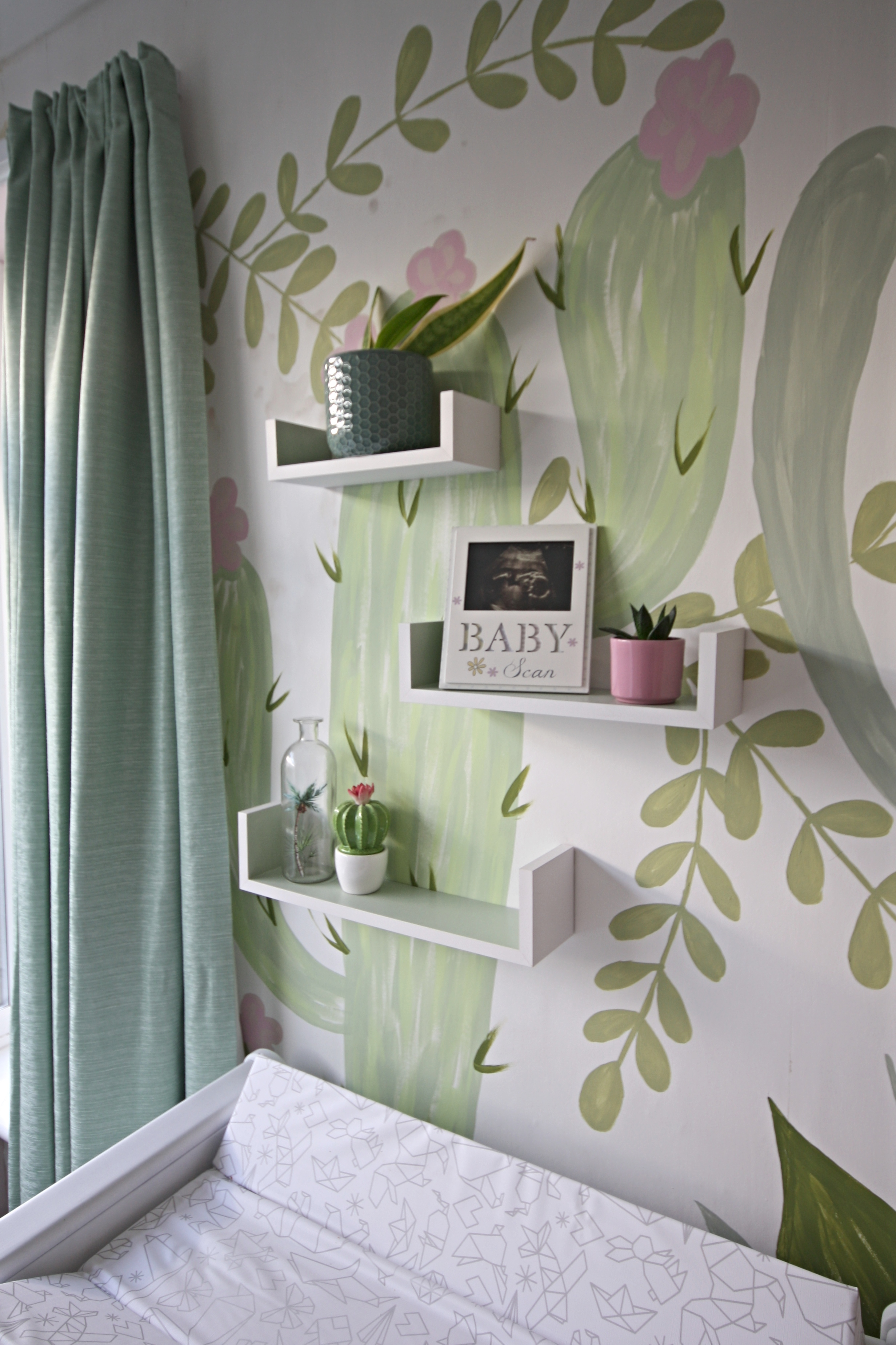 Pink And Green Cactus Nursery Makes Bakes And Decor